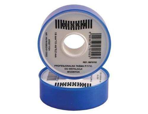 n White PTFE Tape Thread Seal Leak Fix 10m x 19mm x 0.2 mm ()
