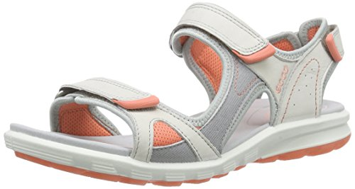 Ecco ECCO CRUISE, Damen Sport- & Outdoor Sandalen, Weiß (SHADOW WHITE/SILVER GREY/CORAL59553), 39 EU (6 Damen UK)