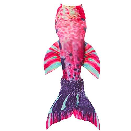 Fanryn niedlich Mädchen Meerjungfrau Schwimmanzug Meerjungfrauenschwanz zum Schwimmen Badeanzüge Kostüm Badeanzug Kann Monofin treffen für Kinderschwimmen Schwimm Cosplay (12 Schwimmen Größe Damen Kleid)