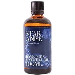 Aceite esencial de Mystic Moments, con aroma de anís estrellado; 100 ml, 100 % puro
