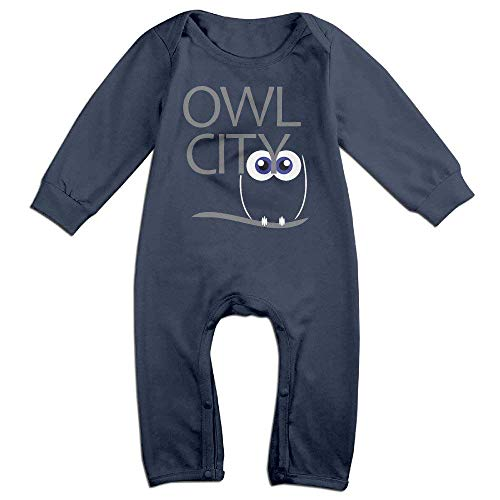 TOPDIY Cute Owl Eyes City Long Sleeve Baby Romper Bodysuit Outfits Clothes
