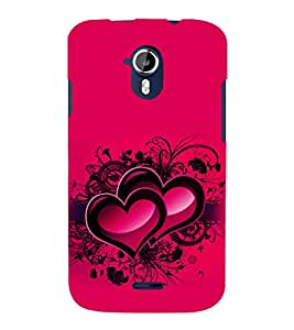printtech Heart Couple Love Back Case Cover for Micromax Canvas Magnus A117