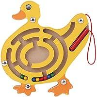 Ruikey Labyrinthe Magnetique Enfants,Jeu Interactif avec Perles Magnétique ,Jouets éducatifs pour Garçons et Filles