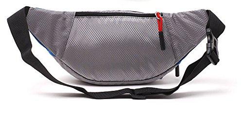 Hivel all'aperto Marsupio Sportivo Borsa da Cintura Cerniera Tasche per Viaggio, Ciclismo ,Jogging, Salita 10 Inch - Verde Blu