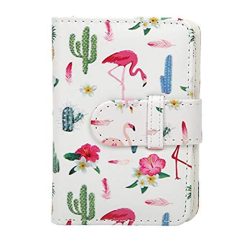 EBTOOLS 3 Zoll 20 Taschen Fotoalbum für Polaroid Fuji Instax Mini(Kaktus Flamingo)