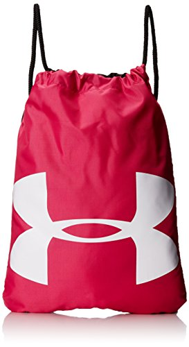 Under Armour UA Ozsee Sackpack, Zaino Unisex Adulto, Rosa (Tropic Pink/Black 655), TAGLIA UNICA