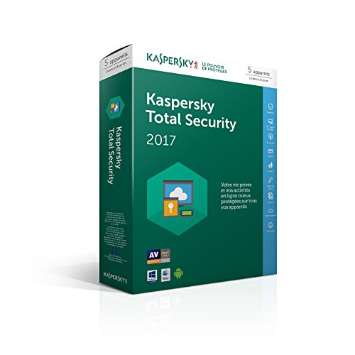 Kaspersky Total Security 2017 (5 postes, 1 an)