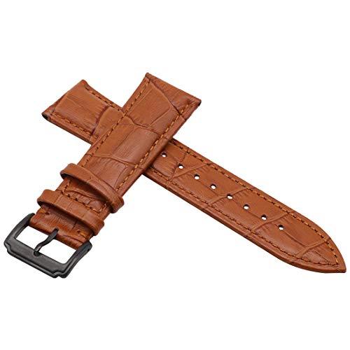 autulet echt 20mm hellbraun Lederarmband für Männer oder Frauen (Mk Rose Gold-männer Uhren)