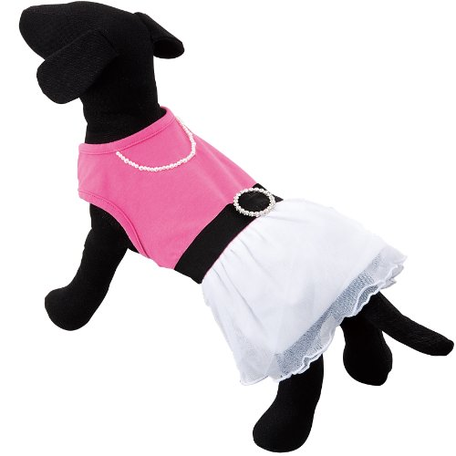 Artikelbild: Moriizumi Serebura dog Lace Dress Pink / White 2L T00909 (japan import)