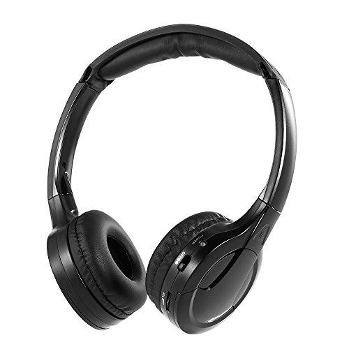Docooler IR Infrarot Wireless Auto Kopfhörer Stereo Headset Verkabelt Kopfhörer Dual Channel für In-Auto DVD-Player - Dual-channel-kopfhörer