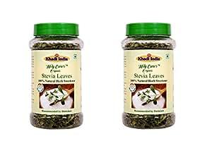 Khadi India Stevia Leaves 100% Natural Sweetener (Pack of 2)-100GM+40 GM Extra