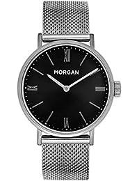 MORGAN Femme Date Standard Quartz Montre avec Bracelet en Acier Inoxydable MG 002-AM