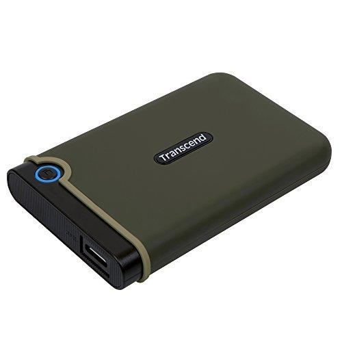 Transcend StoreJet M3 Anti-Shock 2TB externe Anti-Shock Festplatte (6,4cm (2,5 Zoll), 5400 rpm, 8MB Cache, USB 3.0) military-grün