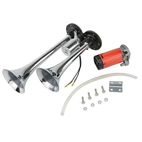 BALLSHOP 150db Lufthorn Druckluft auto Horn mit Kompressor Fanfare Hupe für PKW LKW Auto 12V (Druckluft-auto)