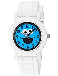 eWatchFactory Boy's 'Sesame Street' Quartz Plastic and Silicone Casual Watch, Color:White (Model: WSS000028)
