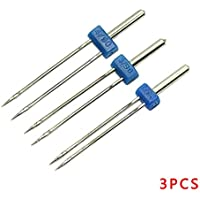 Topker 3pcs Double Twin Needle Machine à coudre Needles Taille du terrain 2.0 / 90, 3.0 / 90, 4.0 / 90