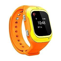 Trak TW8 Kids Wearable GPS Tracker Smart Watch, Activity Tracker(Orange)