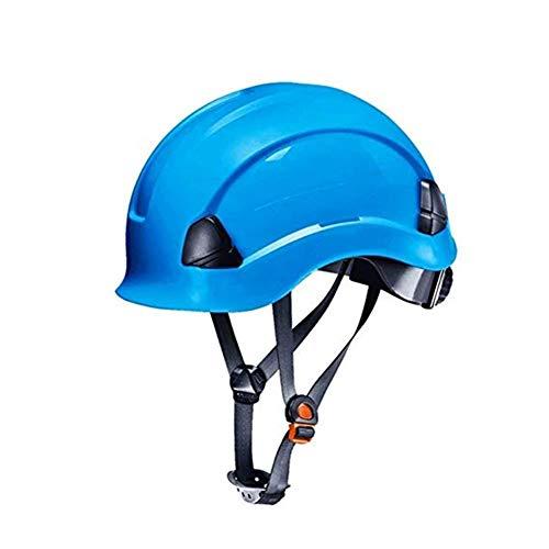 Kostüm Weibliche Mechaniker - WYNZYSLBD Schutzhelm-BAU, Schutzhelm-Bauarbeiter-Helm Mit Belüftung Und Anpassung Bauarbeiter-Helm Mit Belüftung (Color : Blue)