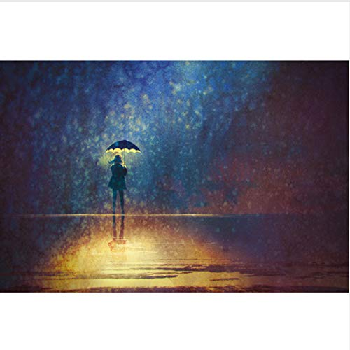 QAZZSF Malen Nach Zahlen Für Erwachsene Und Kinder DIY Ölgemälde Geschenk-Kits Vorgedruckte Leinwand Kunst Home Decoration - Umbrella Girl 40X50CM -