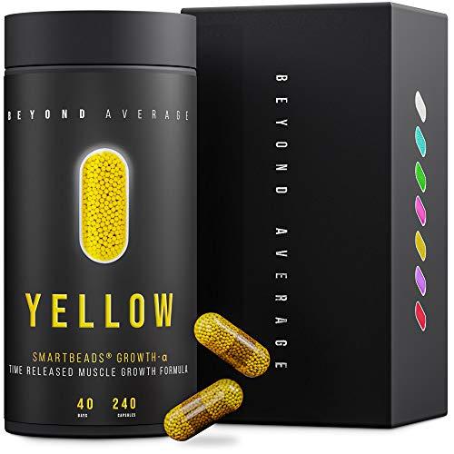 Beyond Average YELLOW | Time-Released 24h* Creatin + Beta-Alanin | 240 Smartbeads ® Grow-M-Alpha Kapseln | Laborgeprüft | Entwickelt u. Hergestellt in Deutschland | Die neue Supplement-Generation