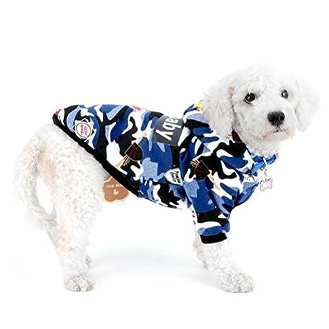 zunea Camouflage Hund Hoodie für kleine Hunde, Jungen männlichen Doggy