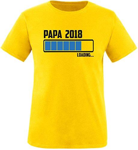EZYshirt® Papa 2018 Herren Rundhals T-Shirt Gelb/Schwarz/Blau