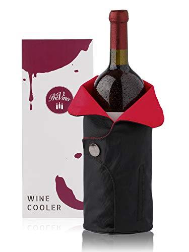 PreVino Weinkühler Set mit Kühlmanschette | Schnelle und Lange Kühlung von Weinflaschen | Inklusive Design Geschenk Verpackung