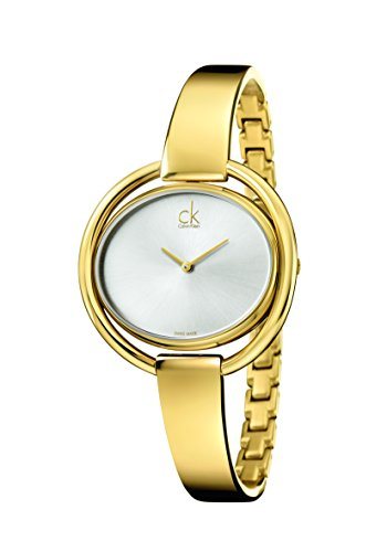 Calvin Klein Damen-Armbanduhr Analog Quarz Edelstahl beschichtet K4F2N516