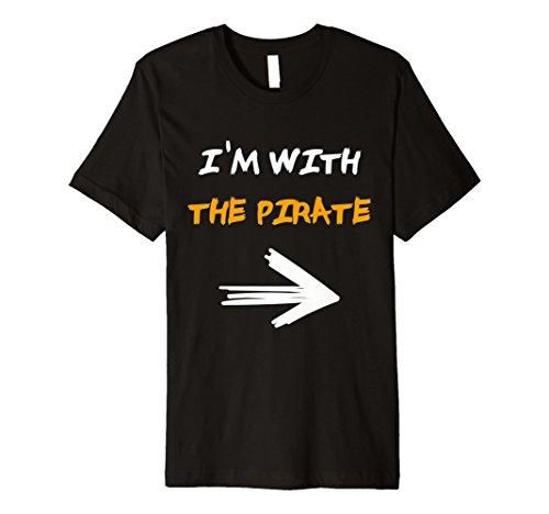Ich bin mit der Pirat Halloween Paar T-Shirt