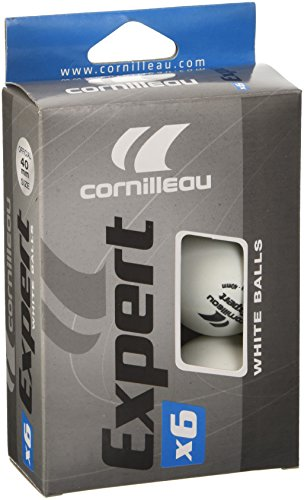Cornilleau Expert Kit 6 Palline Ping Pong, Bianco