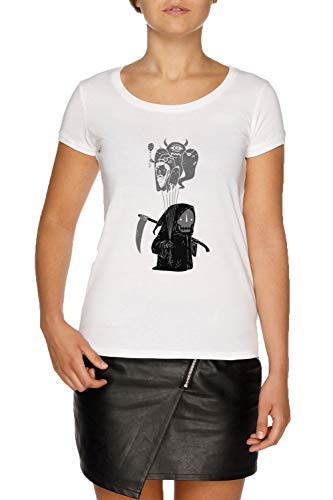 Seele Kollektor Damen Weiß T-Shirt Größe XS | Women's White T-Shirt Size XS -