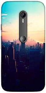 Snoogg New York New York Designer Protective Back Case Cover For Motorola G 3...