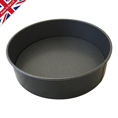 Moule à gâteau anti-adhésif à fond amovible de 18cm de large, 3cm de profondeur
