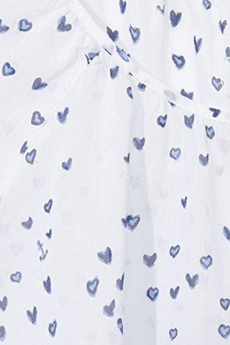 Zarte Baumwoll-Bluse mit fröhlichen Sommermotiven Weiss multicolor