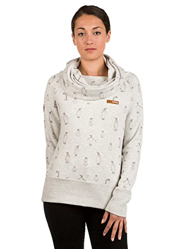 Mazine Damen Hoodie light graey mmelange - berry pinguins