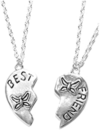 SG PARIS BIJOUX FANTAISIE COLLIER SET X2Pc FEMME METAL ARGENTE