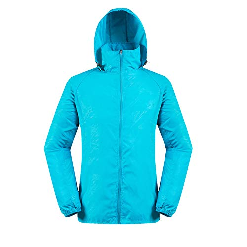 Mymyguoe Männer Frauen Leichte Jacke Wasserdichte Windbreaker Jacke Protect Running Coat...