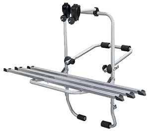 STEELBIKE 3 portabici posteriore per 3 biciclette, fissaggio con cinghie