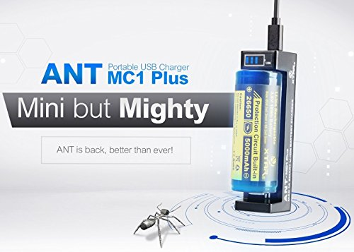 XTAR ANT MC1 Plus, intelligentes mini Ladegerät, USB, 1000mA, Li-Ion, Display