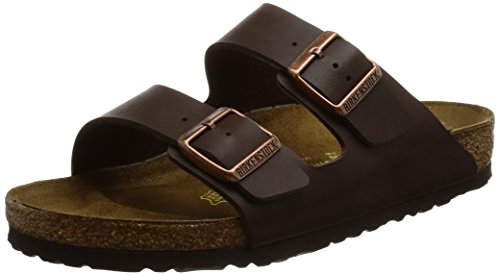 Birkenstock Arizona, Unisex-Adults' Sandals, Brown (DARKBROWN), 7.5 2A UK