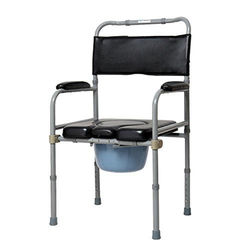 Dbtxwd Toiletten-Stuhl, Faltender Beweglicher Älterer Topfartiger Sitz, Toiletten-Stuhl Mit Bad-Stuhl Für Alten Mann Schwangere Frauen -