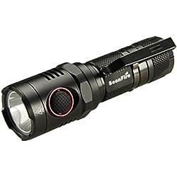 soonfire NS17 CREE XM-L2 U3 LED Lampe Torche Rechargeable,Débit Maximal 1000 lumens,210m de portée,Livré avec Un câble USB,Un étui Nylon,Une dragonne,Batterie