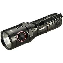 Soonfire NS17 - Torcia elettrica CREE XM-L2 U3 LED 1000 Lumen, distanza fascio 240 m, compatta, batteria ricaricabile agli ioni di litio 18650, cavo USB di ricarica e custodia
