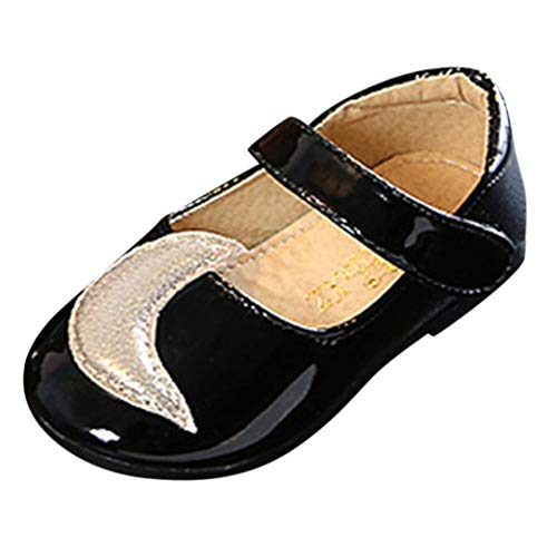 Hirolan Kinderschuhe Säugling Babyschuhe Mädchen Mond Star Prinzessin Single Lässige Schuhe Kostüm Ballerina Festliche Mädchenschuhe Taufschuhe Schuhe