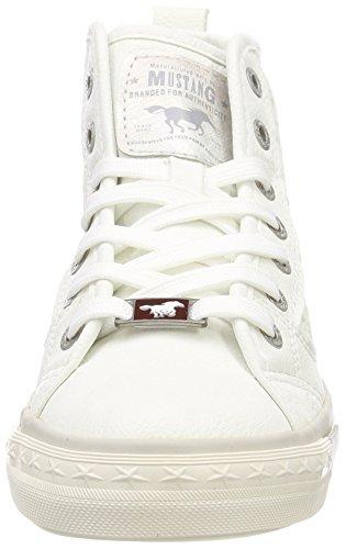 Mustang Ladies 1146-507-1 Sneaker Alta Bianco (bianco)