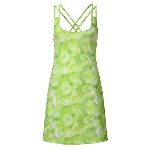 Hahuha Frauen Kleid. Women es Summer Fashion Tie-Dyed Cross Vest Dress -