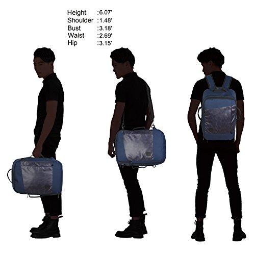 Imagen de veevan vuelo aprobado llevar en la  de negocios de fin de semana bolsas de viaje  28 litros azul oscuro 2 alternativa
