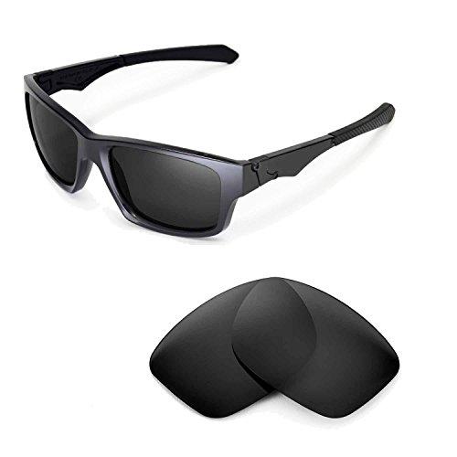 Walleva Ersatzgläser für Oakley Jupiter Squared Sonnenbrille - Mehrfache Optionen (Schwarz - polarisiert)