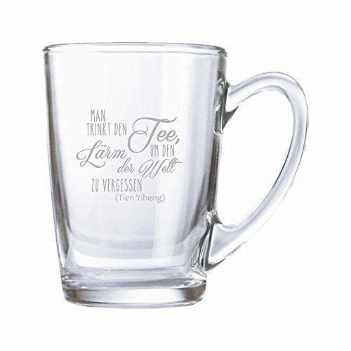 Teeglas/ Kaffeeglas 320ml mit Gravur