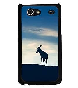 PrintVisa Deer Run Runner High Glossy Designer Back Case Cover for Samsung Galaxy Advance i9070